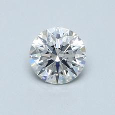 0.50-Carat Round Diamond Ideal E SI1