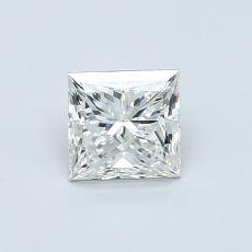 0.70 Carat 公主方形 Diamond 非常好 H VS2