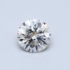 0.53-Carat Round Diamond Ideal I VS2