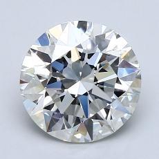 Pierre cible: Diamant taille ronde 2,07 carat