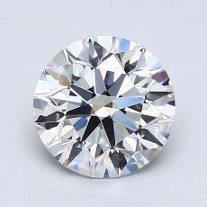 1.25 Carat ラウンド Diamond アイデアル G VVS1