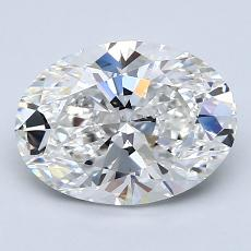 2.01 Carat 橢圓形 Diamond 非常好 F VS1