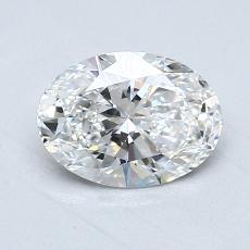 推荐宝石 2:1.06克拉椭圆形切割钻石