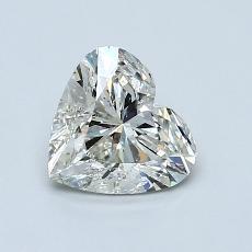 1.00 Carat 心形 Diamond 非常好 K SI2