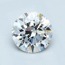 1,00-Carat Round Diamond Ideal E VVS1
