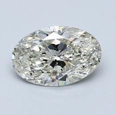 1.02 Carat 椭圆形 Diamond 非常好 K SI2