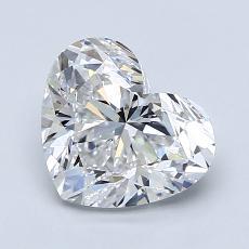 Piedra recomendada 3: Forma de corazón de 1.80 quilates