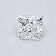 0.51-Carat Princess Diamond Very Good E VVS1