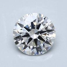 1.00-Carat Round Diamond Ideal F VS2