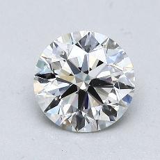 1.00-Carat Round Diamond Ideal H VS2