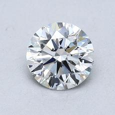 0.80-Carat Round Diamond Ideal D VVS2