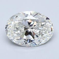 1.51-Carat Oval Diamond Very Good I SI1