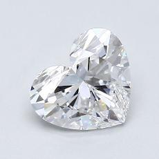1.01-Carat Heart Diamond Very Good D VVS2