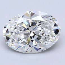 2.01-Carat Oval Diamond Very Good D VS1