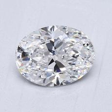 0.90 Carat 橢圓形 Diamond 非常好 D VVS2