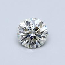 0,51 Carat Rond Diamond Idéale K VS2
