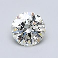 1.00-Carat Round Diamond Ideal K VVS1