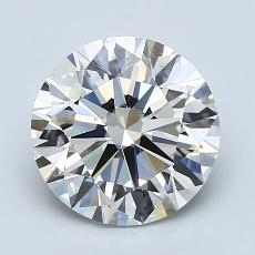 2.00-Carat Round Diamond Ideal H VS1