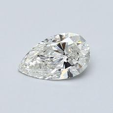0.50 Carat 梨形 Diamond 非常好 I SI2