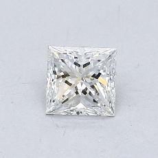 0.50 Carat 公主方形 Diamond 非常好 E VVS1