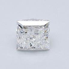 1.00 Carat 公主方形 Diamond 非常好 E VS2