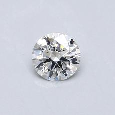 Piedra recomendada 2: Talla redonda de 0.30 quilates