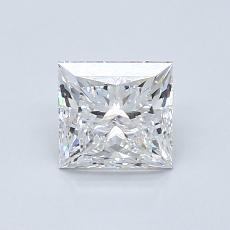 推薦鑽石 #1: 1.00 克拉公主方形切割