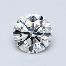 推荐宝石 1:1.02 克拉圆形切割