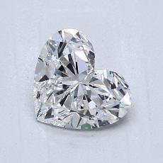 0.92-Carat Heart Diamond Very Good D VVS2