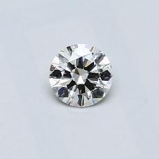 推薦鑽石 #4: 0.30  克拉圓形切割