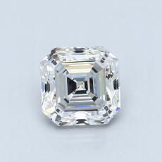 0.86-Carat Asscher Diamond Very Good G IF
