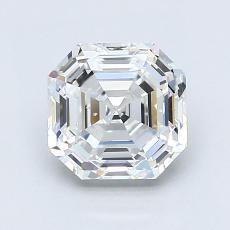 Piedra recomendada 4: Diamante de talla Asscher de 1.65 quilates