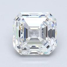 1.72 Carat Asscher Diamond Muy buena D VVS1