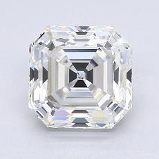 2,07-Carat Asscher Diamond Very Good G VVS1