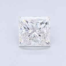 0,90-Carat Princess Diamond Very Good D VS1