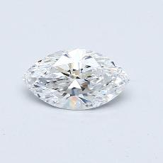 0,80-Carat Marquise Diamond Very Good D VVS1