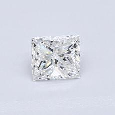 0.52-Carat Princess Diamond Good D VS1