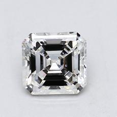 Pierre recommandée n°1: Diamant taille Asscher 0,89 carat