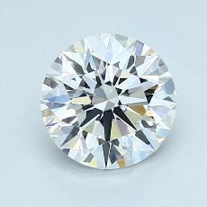 1.41 Carat 圆形 Diamond 理想 E IF