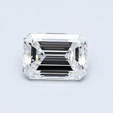 0.65-Carat Emerald Diamond Very Good D VVS1
