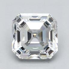 1.74-Carat Asscher Diamond Very Good F VVS1