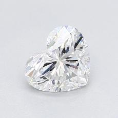 0.90-Carat Heart Diamond Very Good D VS1