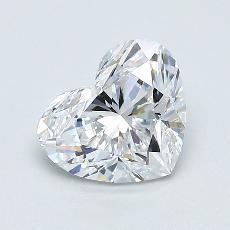 所選擇的鑽石: 1.00 克拉心形切割鑽石