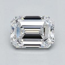 1.01-Carat Emerald Diamond Very Good D VVS2
