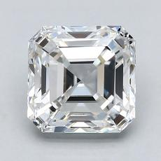 Piedra recomendada 4: Diamante de talla Asscher de 1.80 quilates