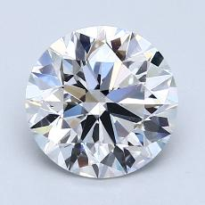 2.01-Carat Round Diamond Very Good G VVS2