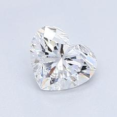 0.88-Carat Heart Diamond Very Good D IF