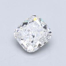 0.81-Carat Cushion Diamond Very Good D SI1