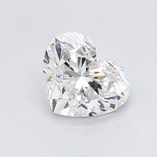 0,90-Carat Heart Diamond Very Good D VVS2