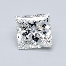 1,02-Carat Princess Diamond Very Good F VS2